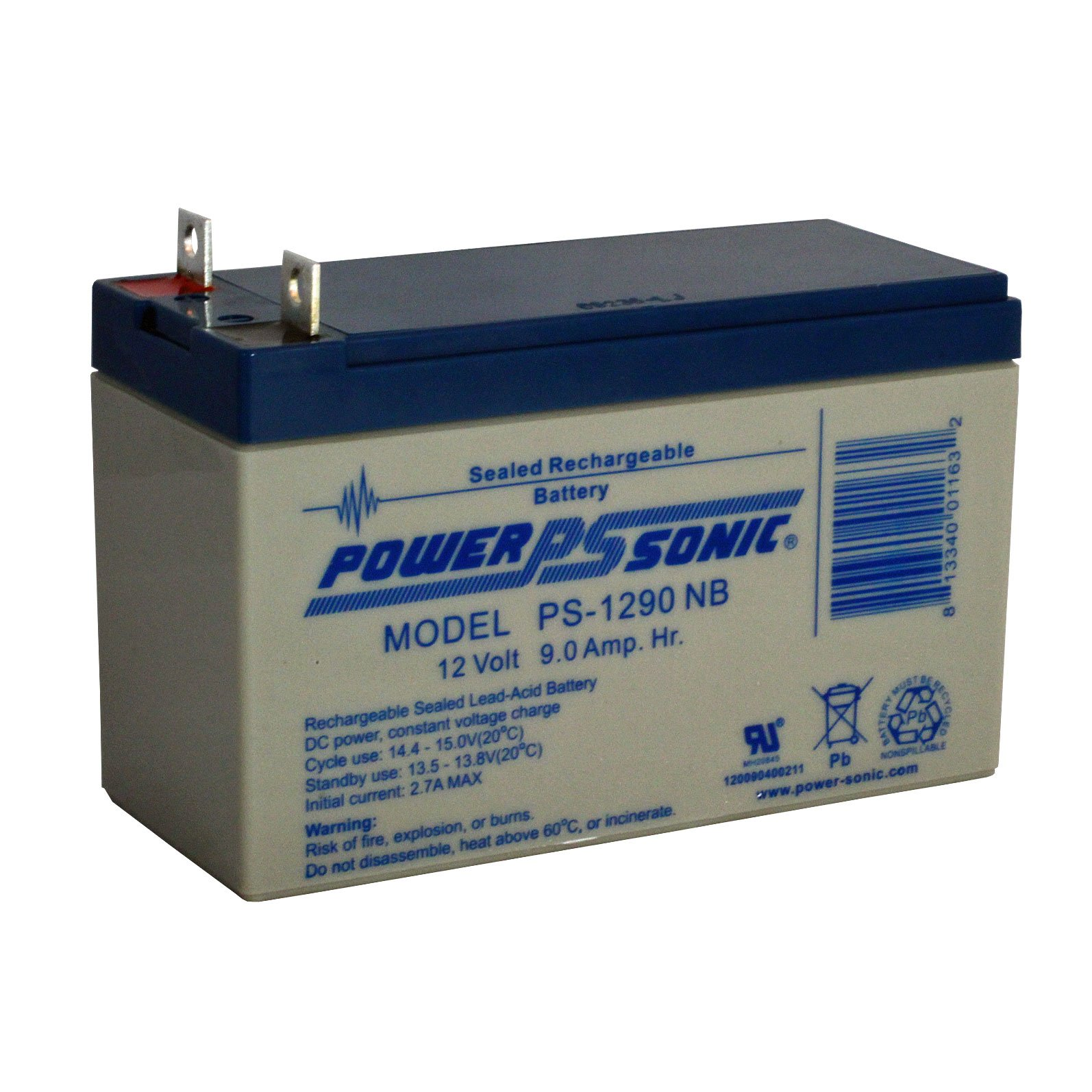 Solar Rechargeable Batteries >> 12 Volt, 9 Ah Sealed Lead Acid Rechargeable Battery with B1 Connector: BatteryMart.com