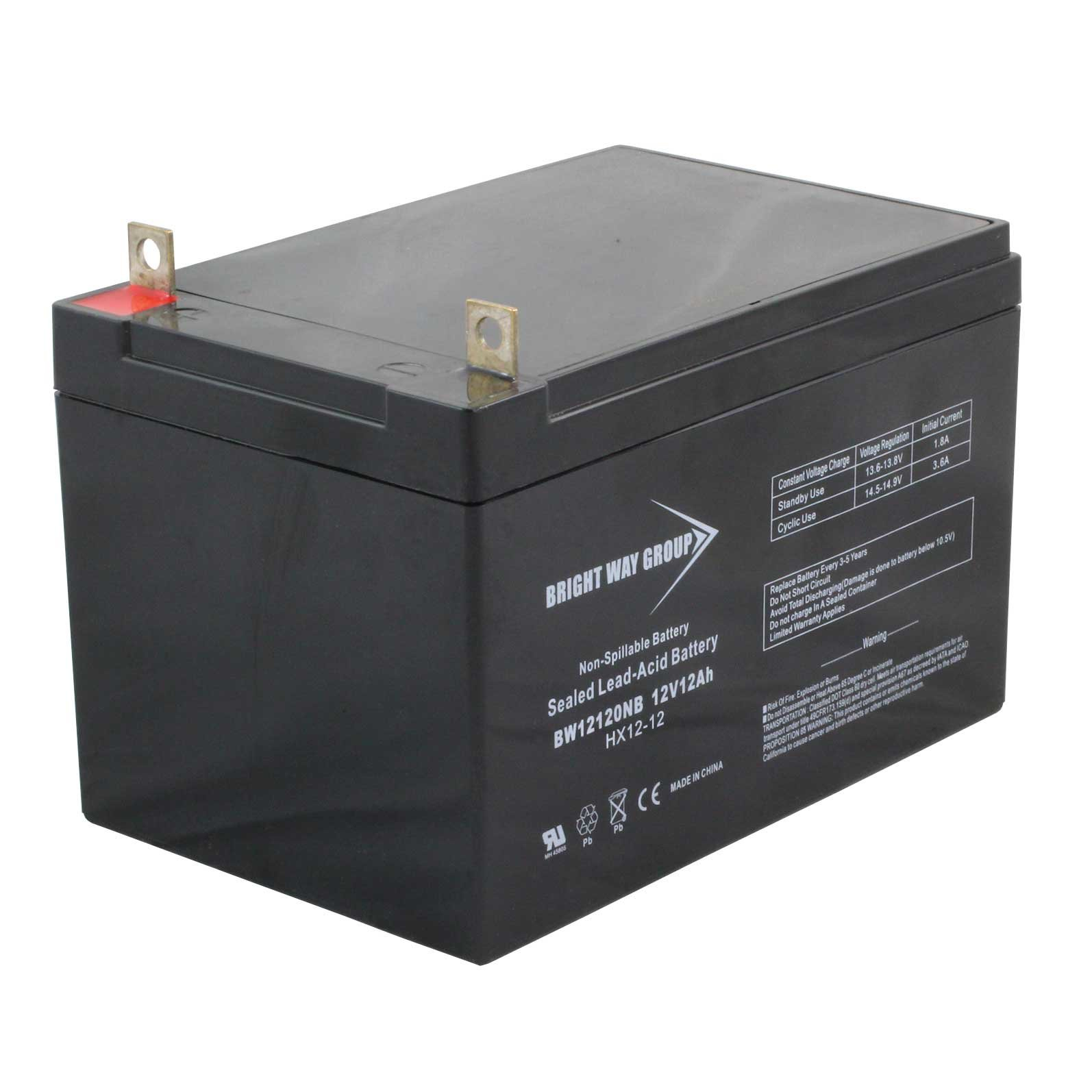 12 volt 12 ah sealed lead acid battery with nut and bolt. Black Bedroom Furniture Sets. Home Design Ideas