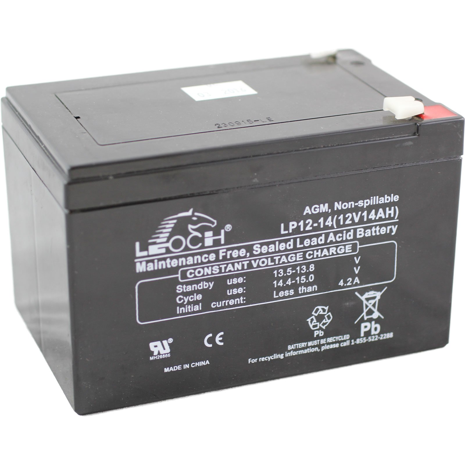 Solar Rechargeable Batteries >> 12 Volt 14 Ah Sealed Lead Acid Rechargeable Battery - F2 Terminal: BatteryMart.com