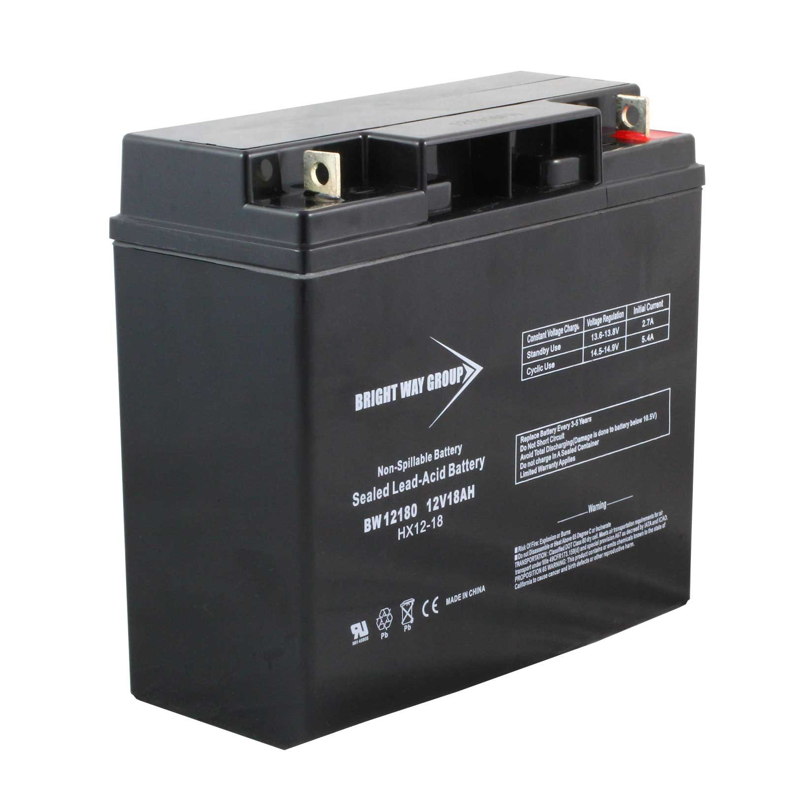 12 Volt Battery : Volt ah sealed lead acid rechargeable battery with