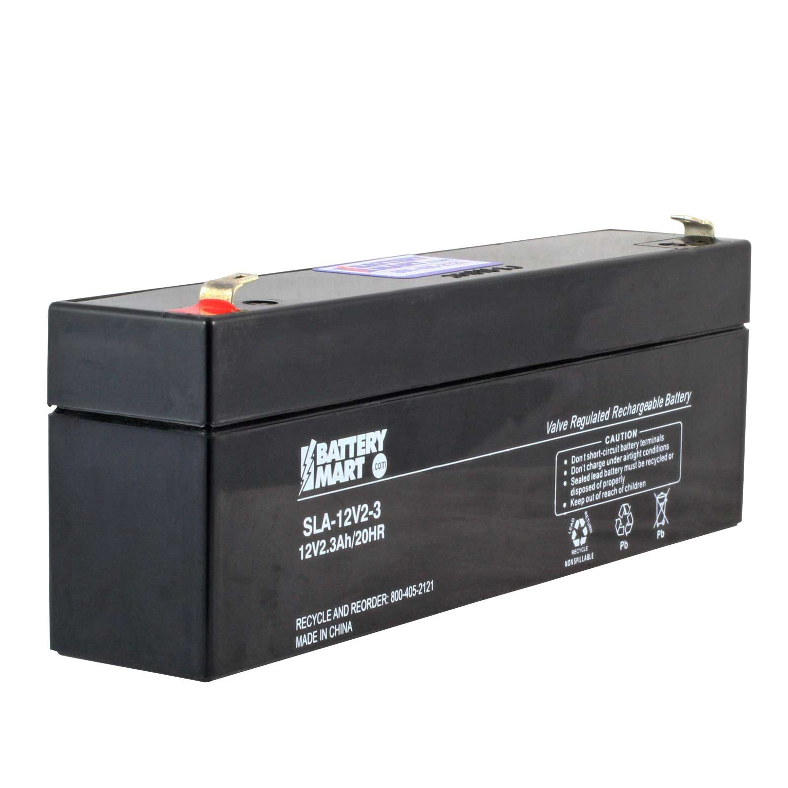 12 Volt 2 2 Ah Sealed Lead Acid Rechargeable Battery F1