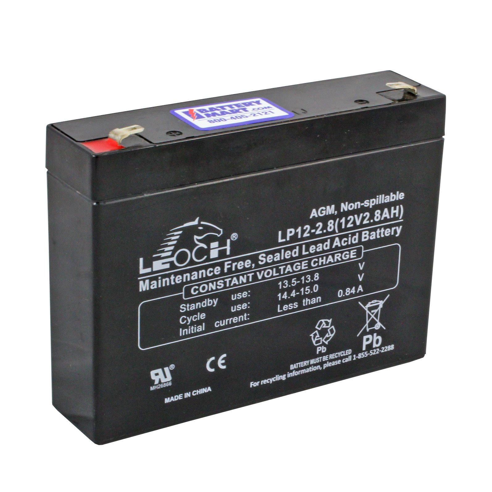 12 Volt 2 8 Ah Sealed Lead Acid Rechargeable Battery F1