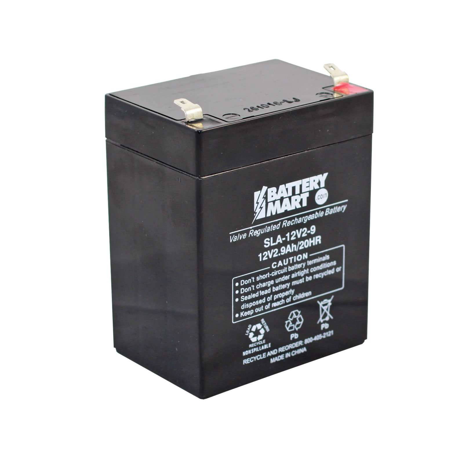 12 volt 2 9 ah sealed lead acid rechargeable battery f1 terminal. Black Bedroom Furniture Sets. Home Design Ideas