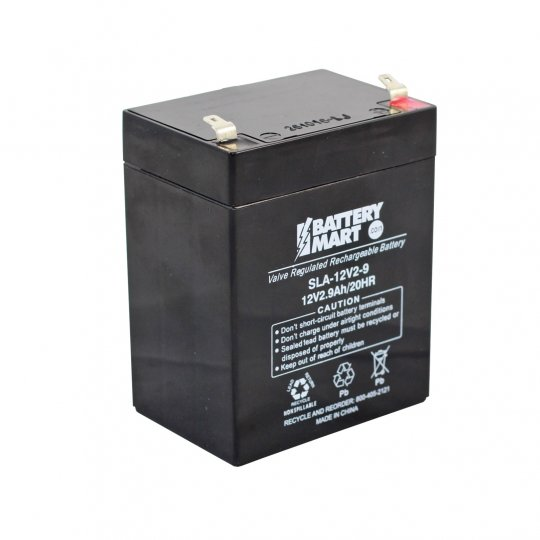 12 Volt 2 9 Ah Sealed Lead Acid Rechargeable Battery F1 Terminal