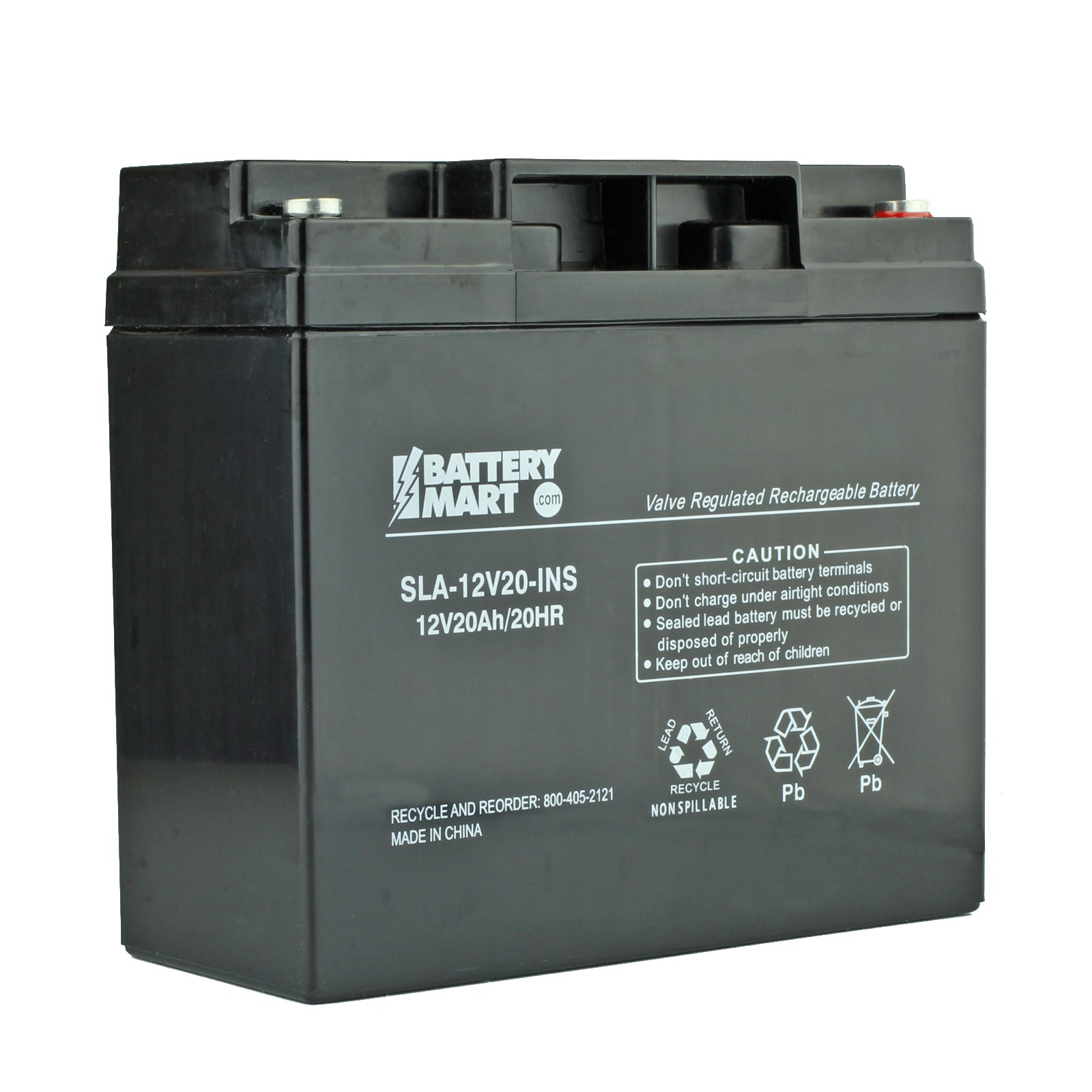 Lead Acid Battery >> 12 Volt 20 Ah Sealed Lead Acid Rechargeable Battery With Insert Terminal