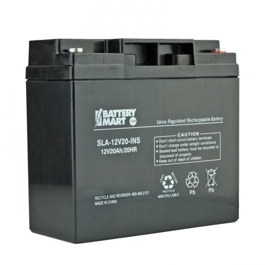 12 Volt 20 Ah Rechargeable Sealed Lead Acid Battery W Insert Terminal