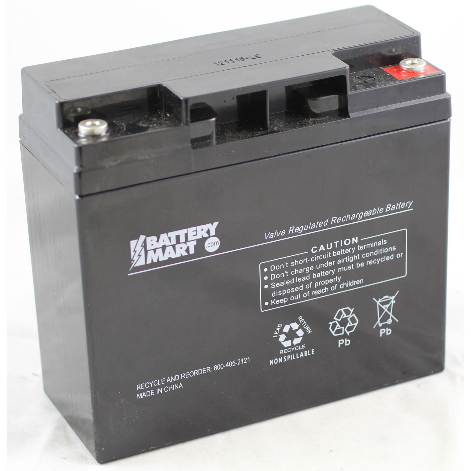 12 Volt 18 Ah Sealed Lead Acid Rechargeable Battery With