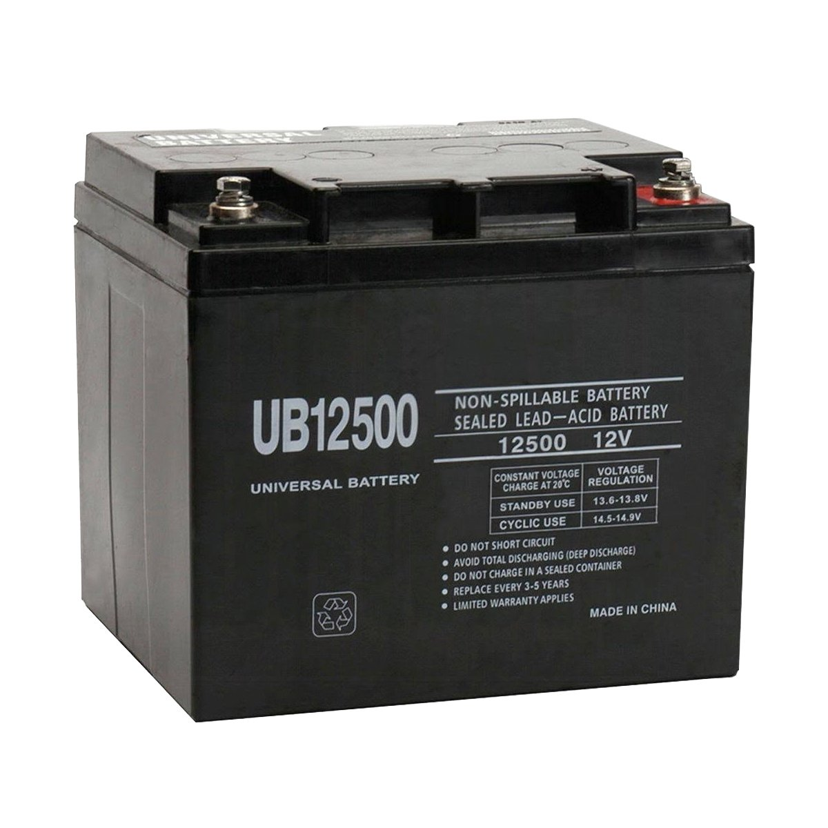 12 volt 50 ah sealed lead acid rechargeable battery insert terminals free shipping. Black Bedroom Furniture Sets. Home Design Ideas