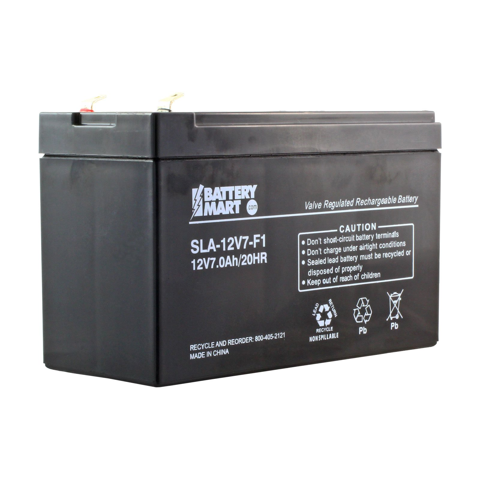 12 Volt 7 Ah Sealed Lead Acid Rechargeable Battery F1