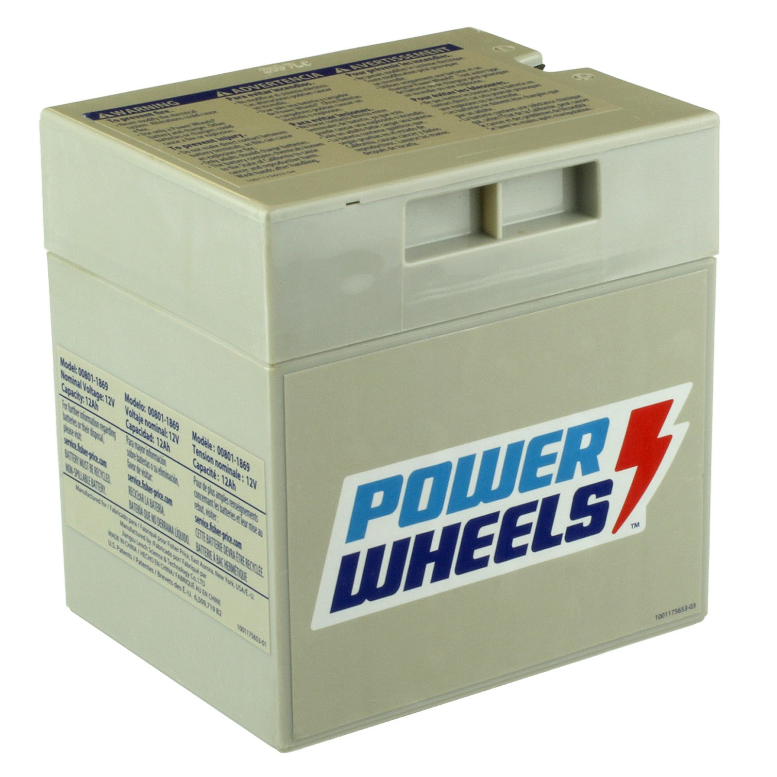 Fisher Price 00801-0638 | 12 Volt Power Wheels Battery