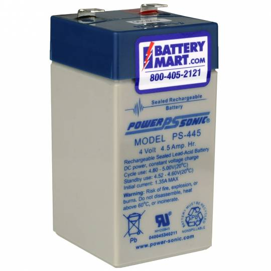 Lead Acid Battery >> 4 Volt 4 5 Ah Sealed Lead Acid Rechargeable Battery F2 Terminals