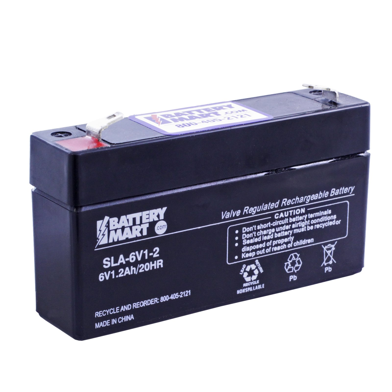 6 volt 1 2 ah sealed lead acid battery f1 terminal free shipping. Black Bedroom Furniture Sets. Home Design Ideas