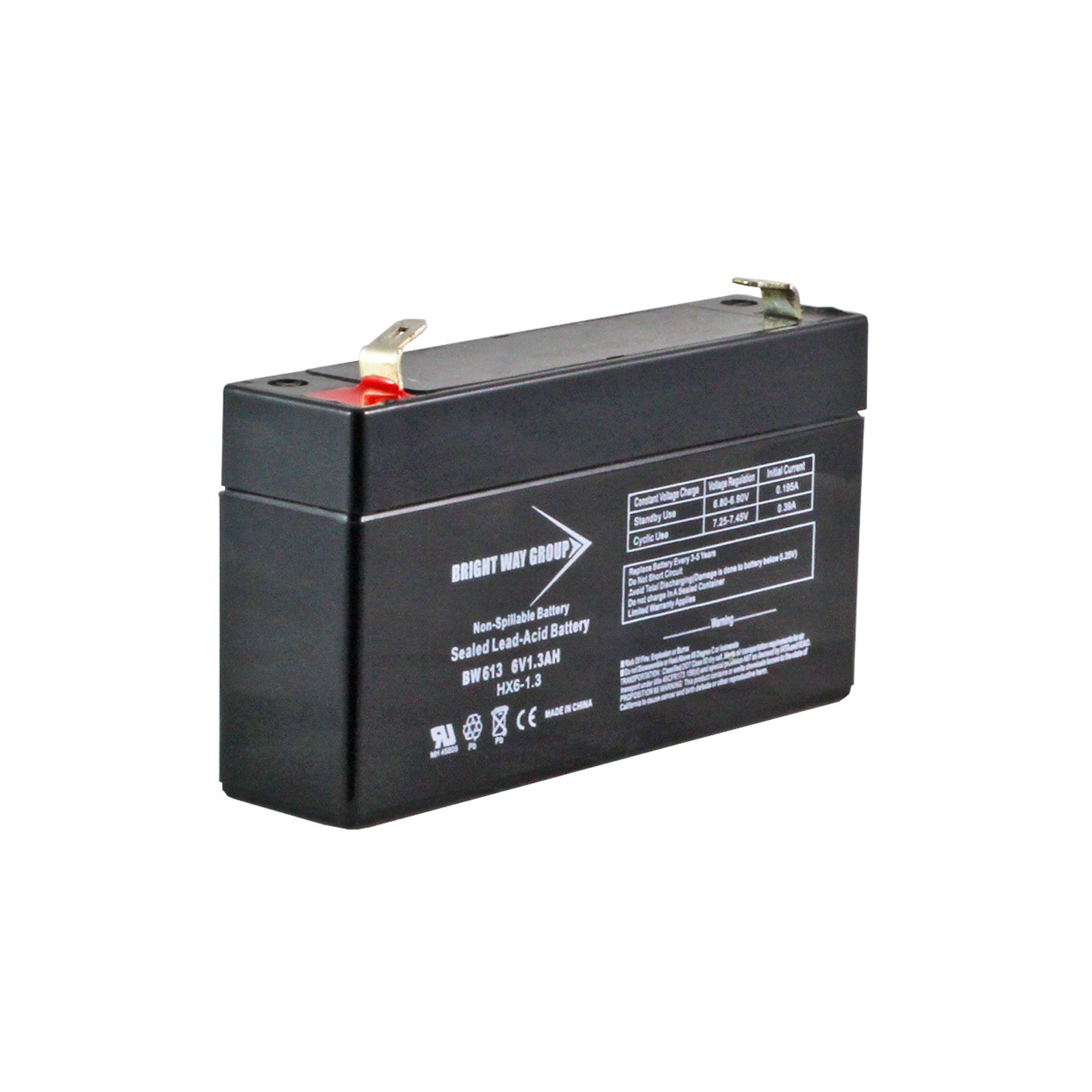 6 Volt 1 2 Ah Sealed Lead Acid Battery F1 Terminal