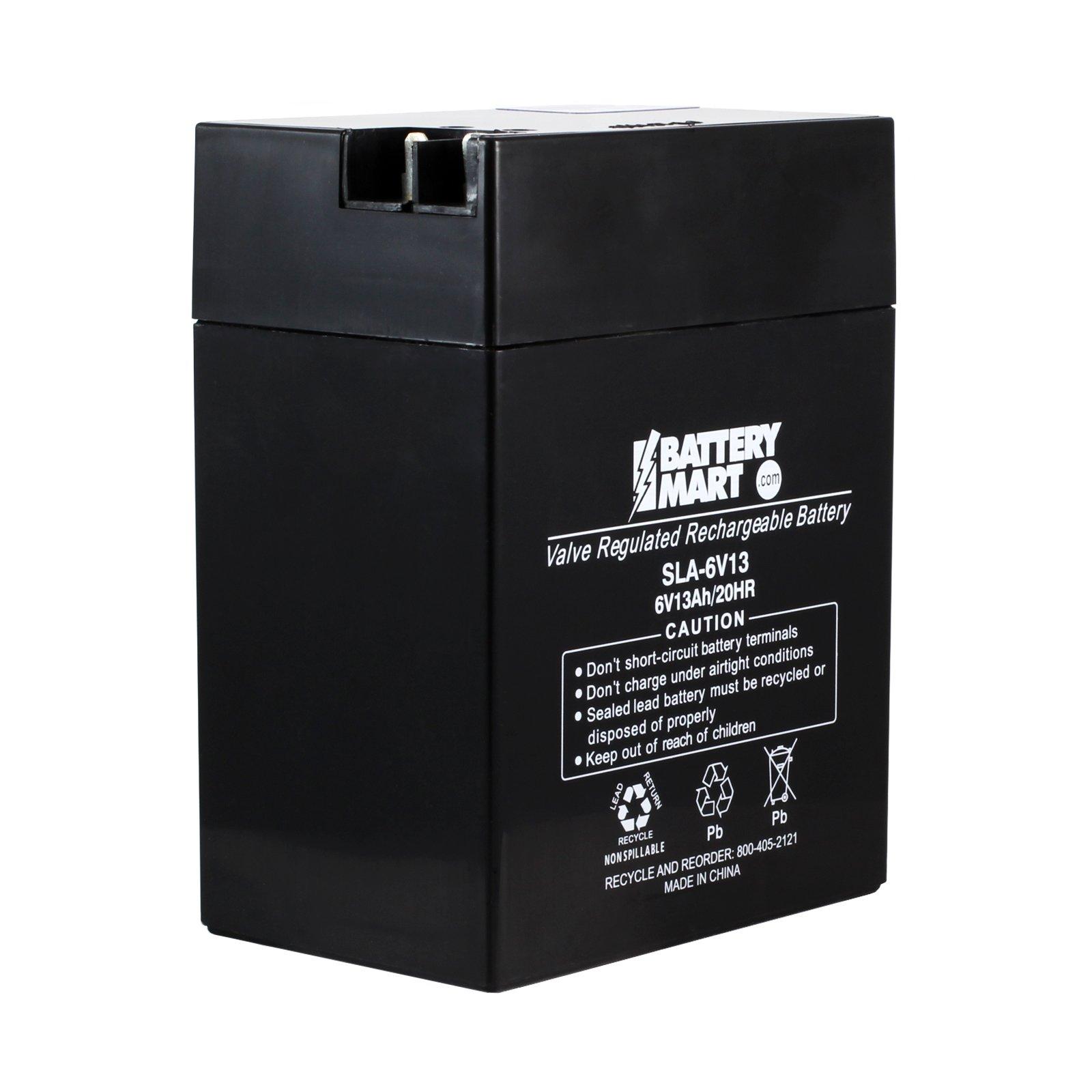 6 Volt 13 Ah Sealed Lead Acid Rechargeable Battery