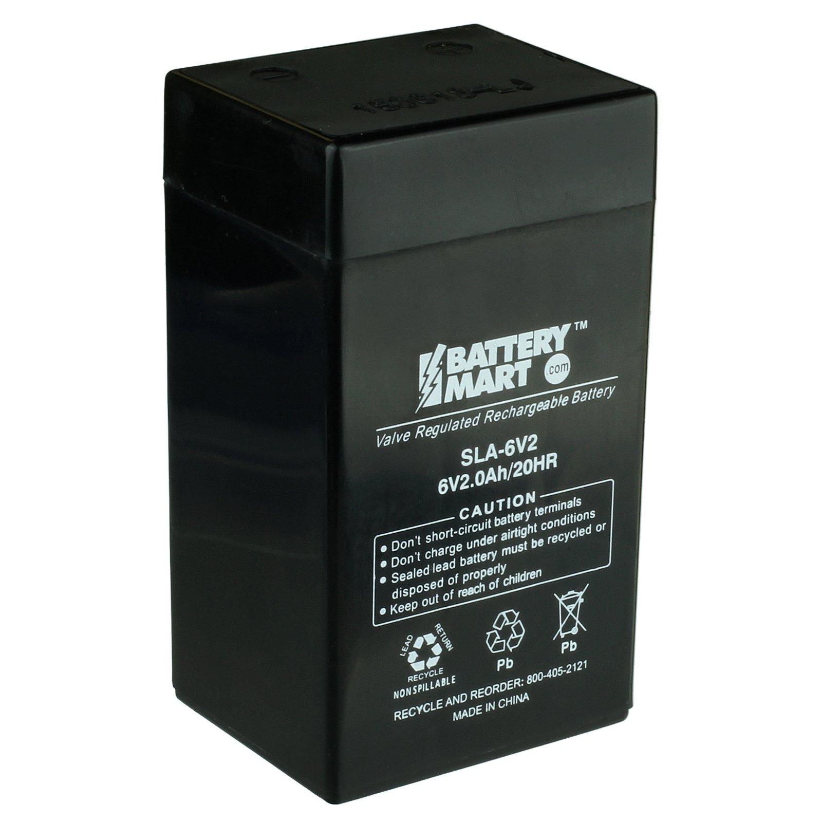 6v 2ah Battery Agm Sealed Lead Acid Batteries Battery Mart