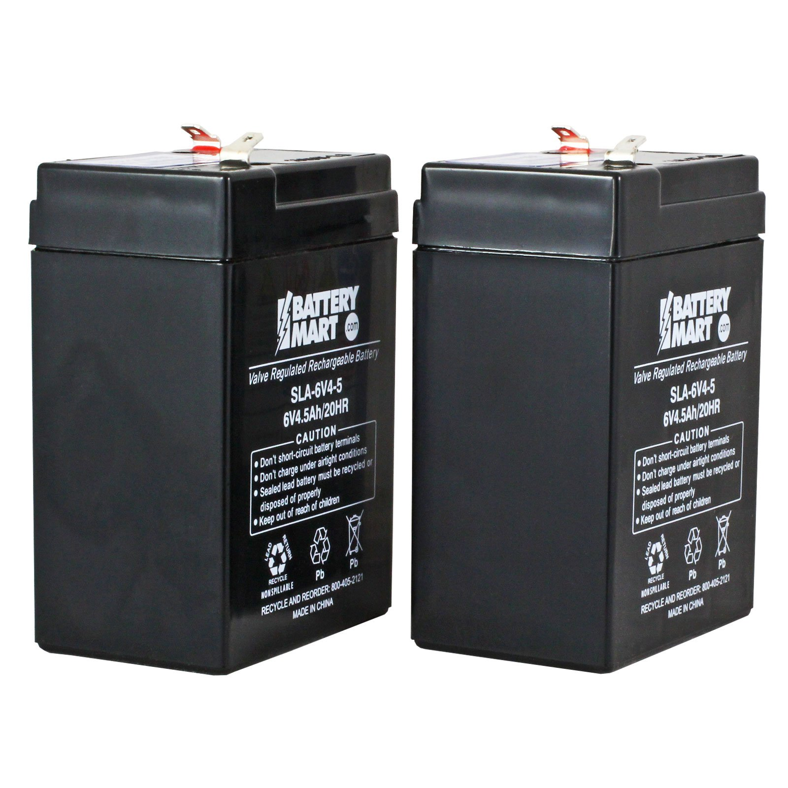 6 volt 4 5 ah sealed lead acid rechargeable battery 2 pack. Black Bedroom Furniture Sets. Home Design Ideas