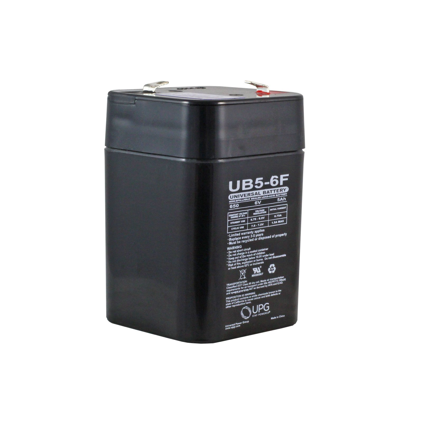 6 volt 5 ah sealed lead acid rechargeable battery with f1. Black Bedroom Furniture Sets. Home Design Ideas