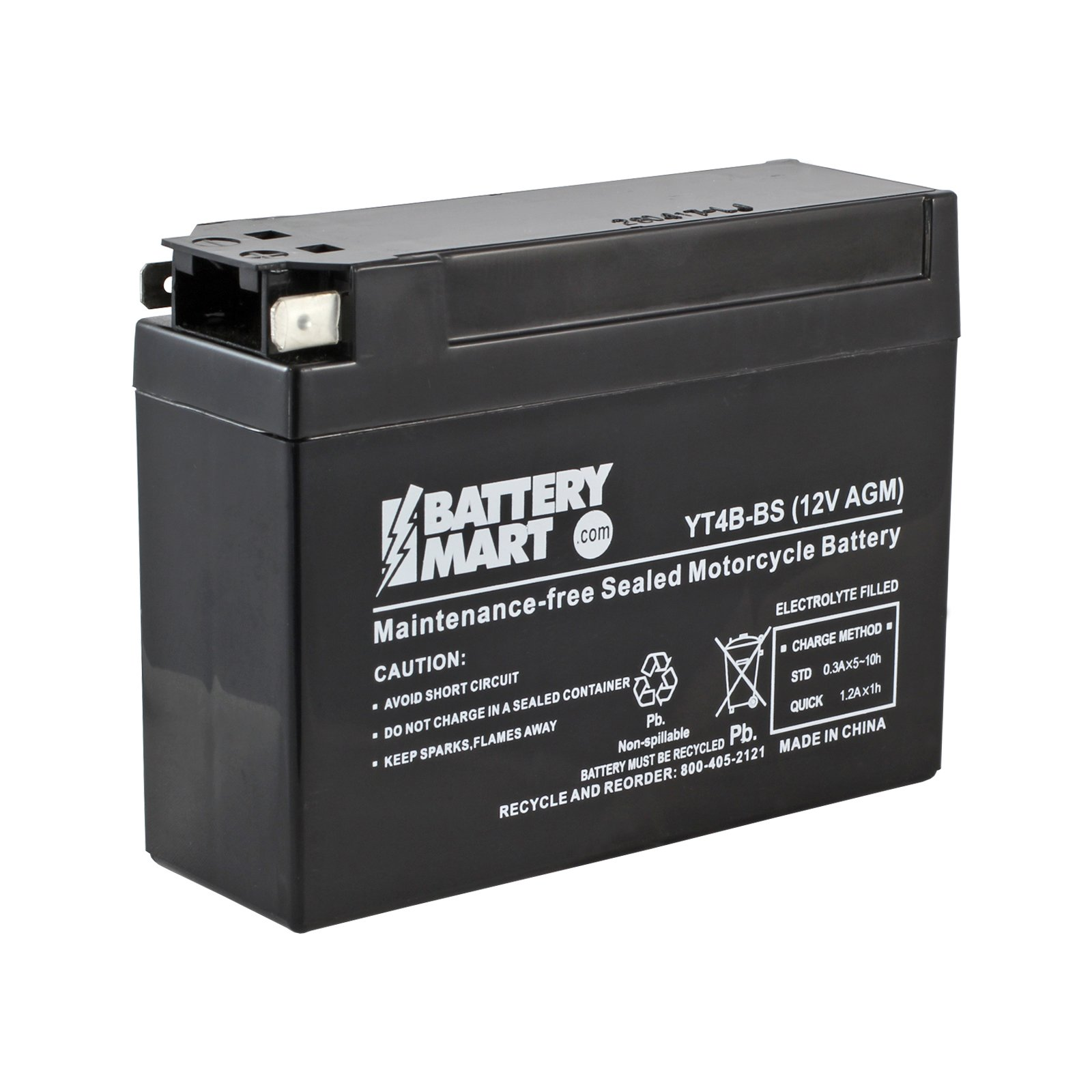 Yt4b Bs Agm Maintenance Free Battery Free Shipping