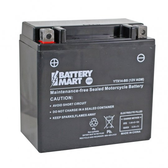 2abcb639 YTX14-BS AGM Maintenance Free Battery | Battery Mart