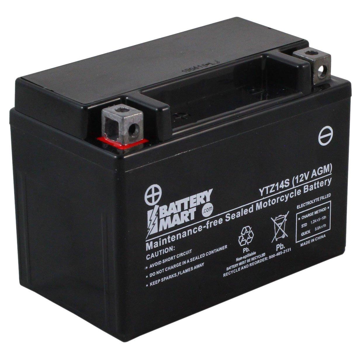 Ytz14s Bs Agm Maintenance Free Battery Free Shipping