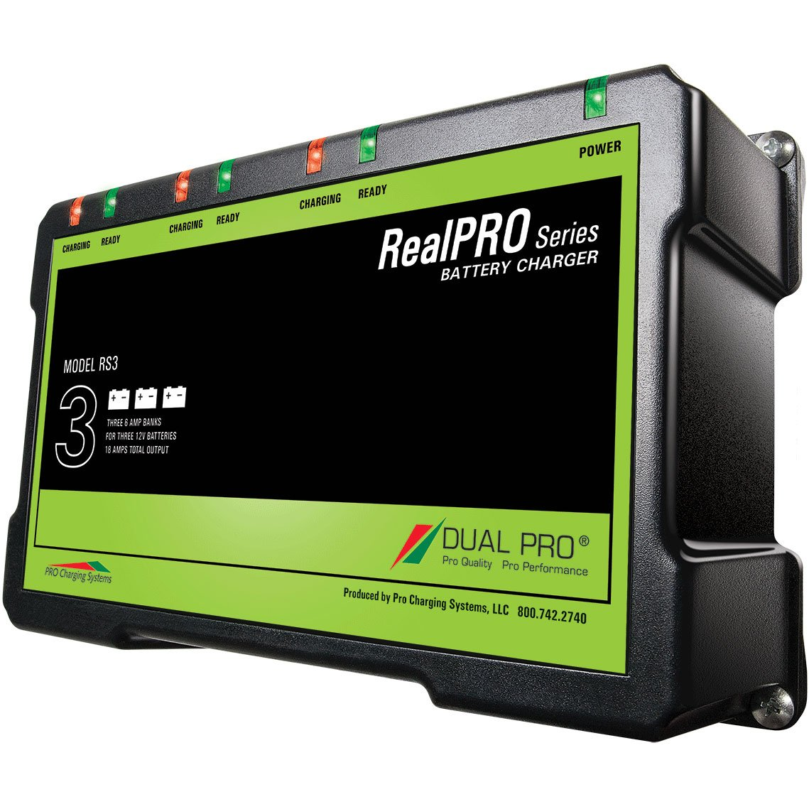Dual Pro Realpro 18 Amp Waterproof Battery Charger Three