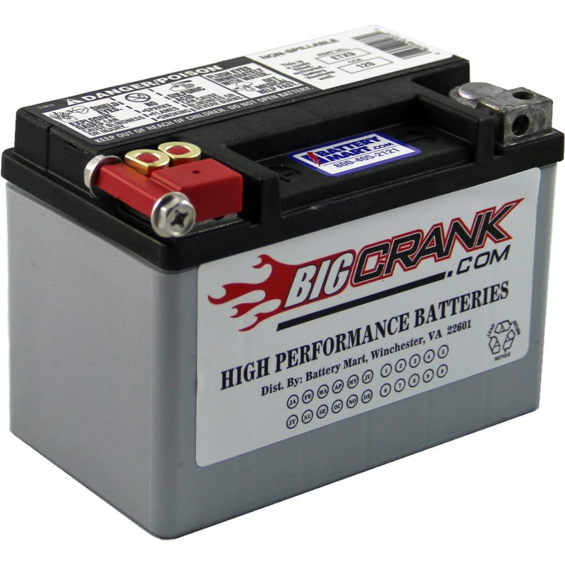 Big Crank Etx9 Battery Big Crank Motorcycle Batteries