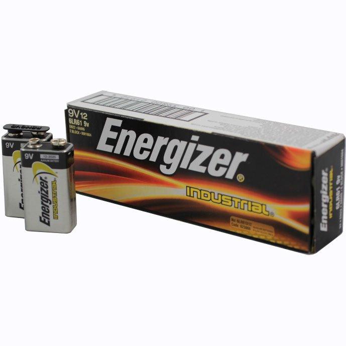 Energizer Industrial 9 Volt Alkaline Batteries 12 Pack