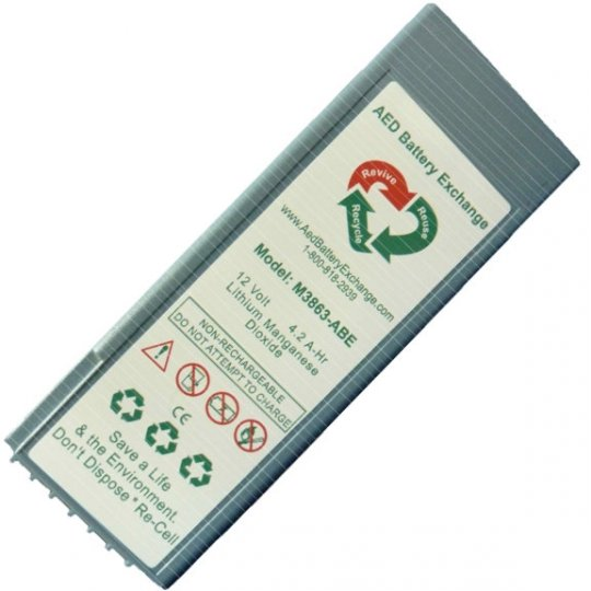 Replacement Philips HeartStart FR2 & FR2+ M3863A AED Battery