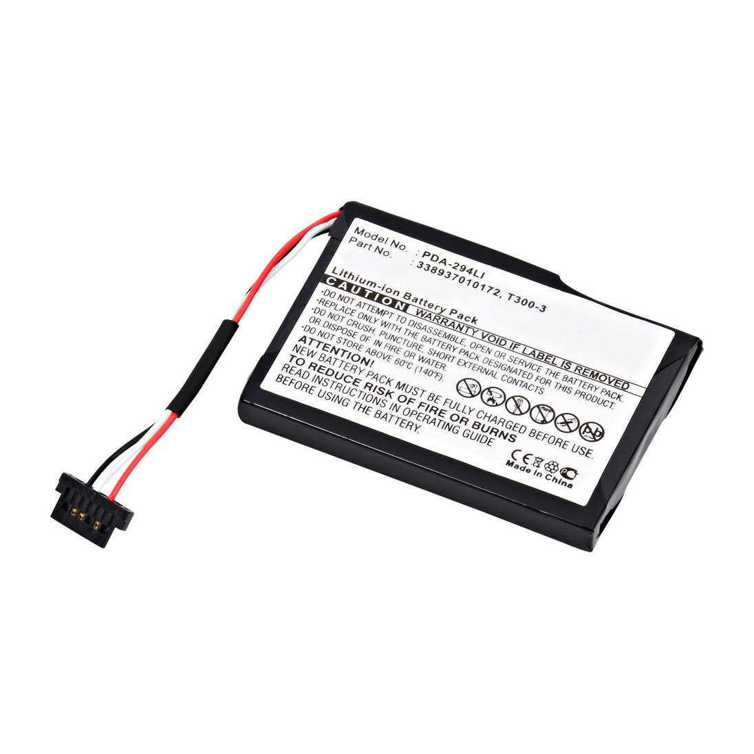 Rechargeable battery for Mitac T300-3 750mAh Li-Ion