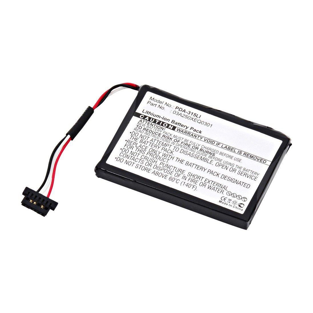 replacement magellan 03a250xeq0301 battery  batterymart com