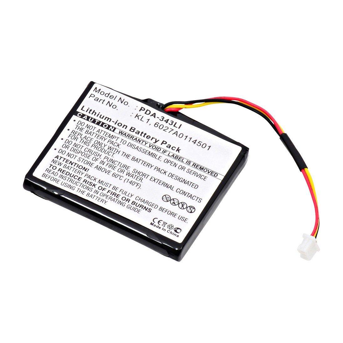 replacement tom tom kl1 battery  batterymart com