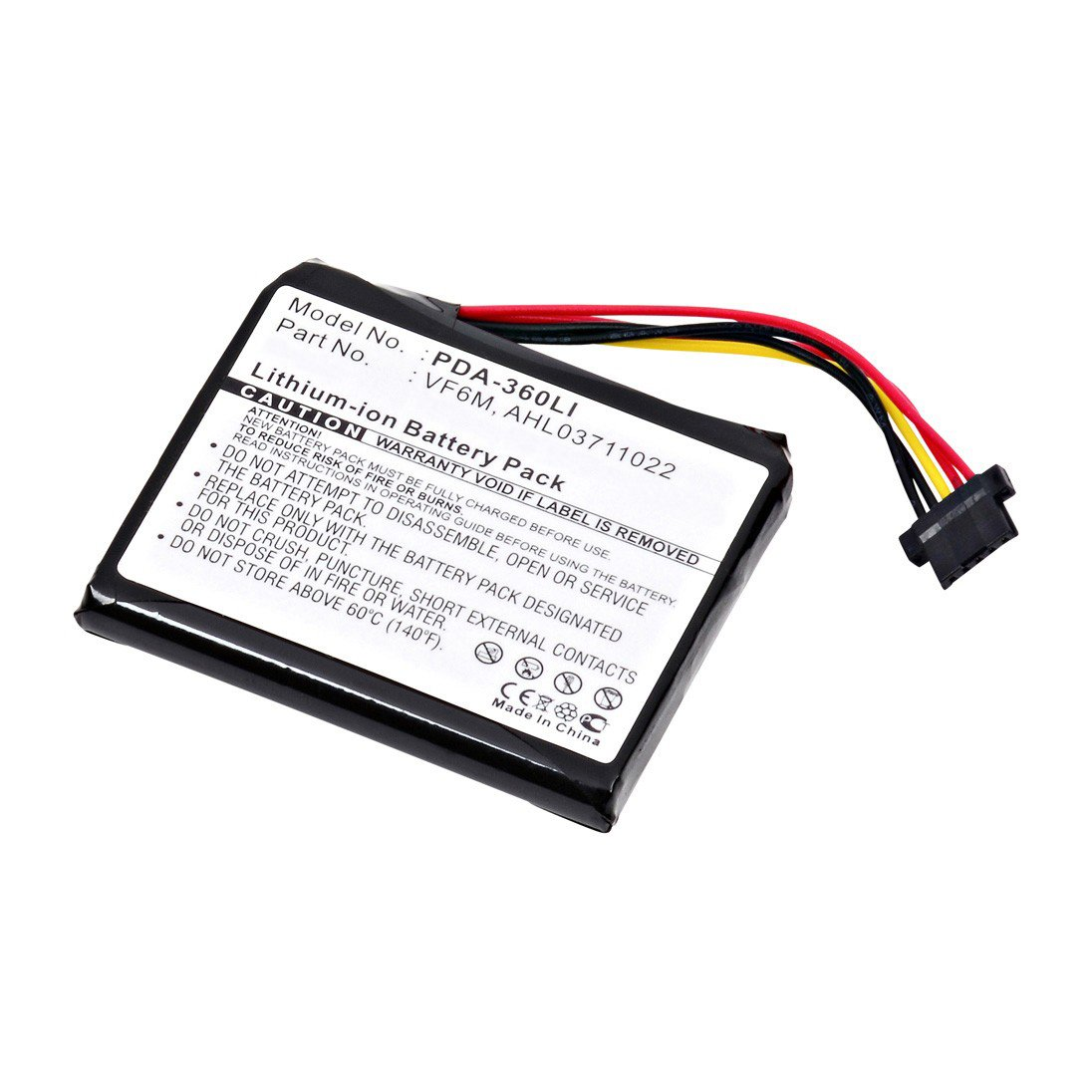 replacement tom tom vf6m battery  batterymart com