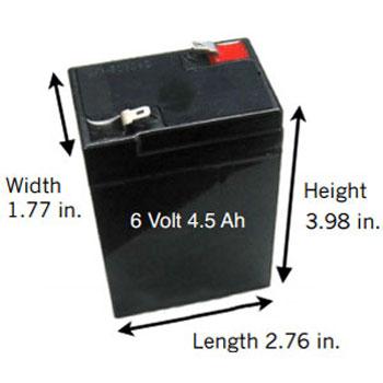 6 volt 4 5 ah sealed lead acid rechargeable battery f1. Black Bedroom Furniture Sets. Home Design Ideas
