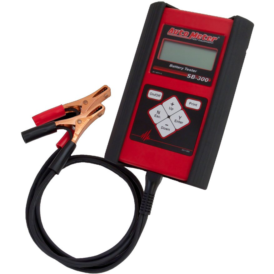Auto Meter Battery Testers : Auto meter sb handheld battery tester for v