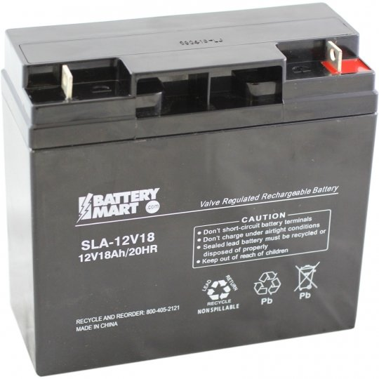 12 Volt 18 Ah Sealed Lead Acid Rechargeable Battery With Nut Bolt Terminals