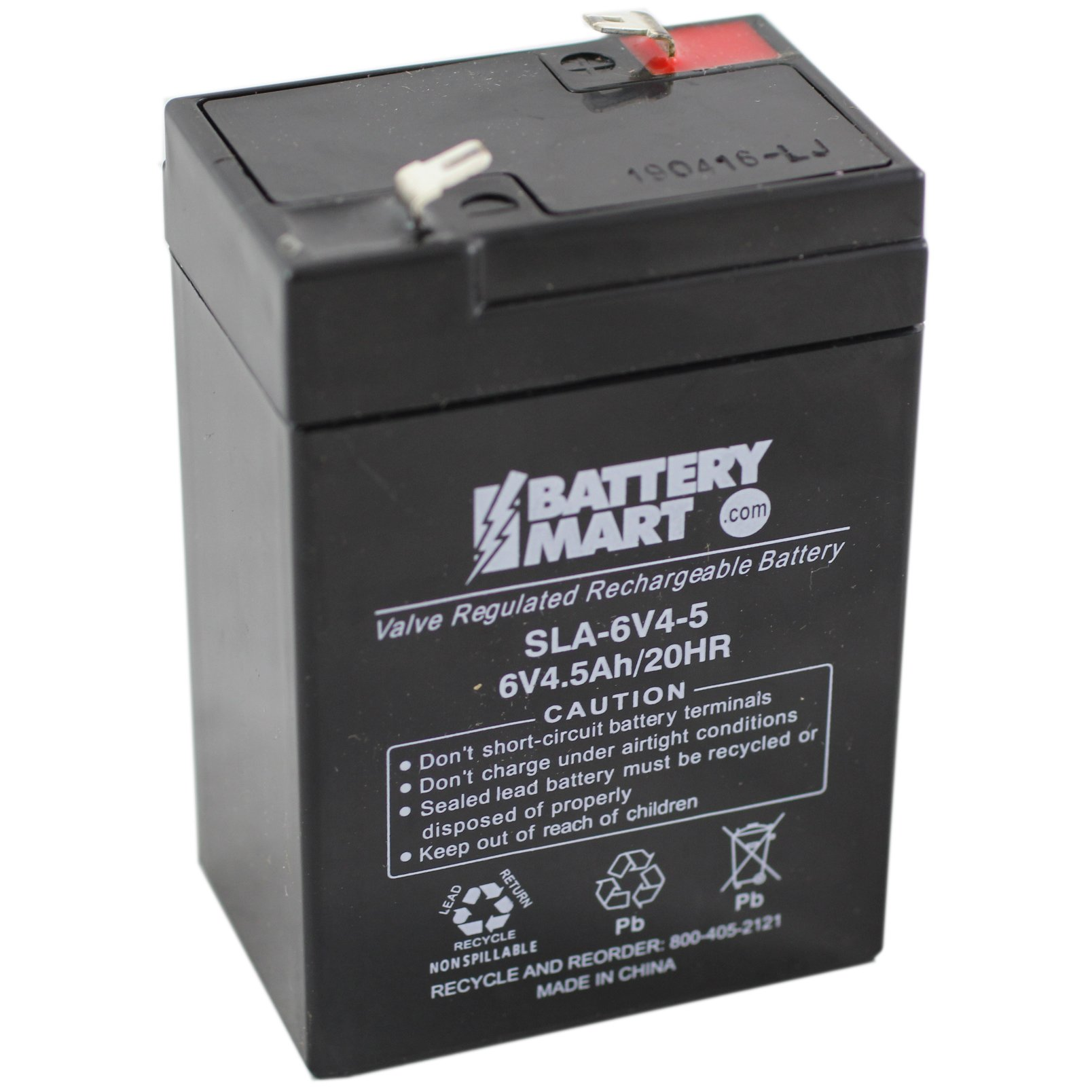 6 volt 4 5 ah sealed lead acid rechargeable battery f1 terminal. Black Bedroom Furniture Sets. Home Design Ideas