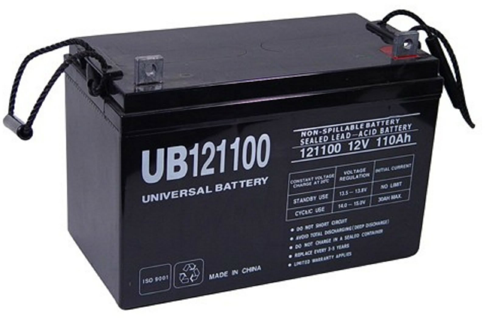 12 volt 110 ah sealed lead acid rechargeable battery with. Black Bedroom Furniture Sets. Home Design Ideas